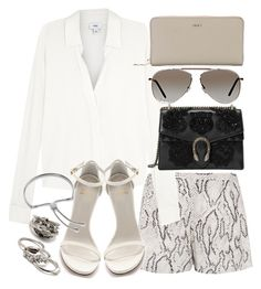"""""""Untitled #20899"""" by florencia95 ❤ liked on Polyvore featuring Haute Hippie, Vince, Gucci, Stuart Weitzman, Tom Ford, Forever 21, Monica Vinader and DKNY"""