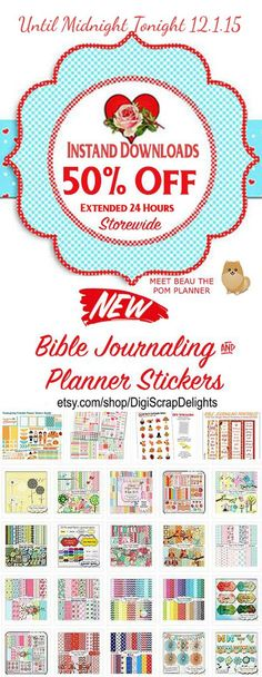 Lots of FREE Printables and 50% Sale Extended 24 Hours (for those that missed it) Last chance to get digital scrapbook kits , #homeschool ebooks, lapbooks, planner stickers,  Hanukkah Lapbook or Biblical Holidays 50% Off #PomPlanner #plannerstickers #Sale #digiscrapdelights #messianic