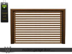 - Build Set 1 - Modern Touch - Modern Garage Door Found in TSR Category 'Sims 3 Doors' Modern Garage Doors, Electronic Art, Sims 3, Contemporary Garage Doors