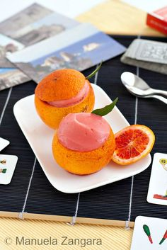 A very easy recipe to make your own Blood Orange Sorbet!