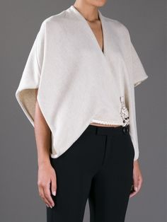 Gianfranco Ferre Урожай свитер в стиле кимоно