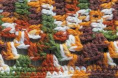 Snuggle up on chilly nights. 1980's Hand Crocheted Afghan in Autumn by EMStreasureseekers, $48.00