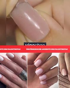 Poly Nagelgelset mit LED-Licht - Mit Polygel erreichen Sie mit dem mitgelieferten LED-Licht in kürzester Zeit die gewünschte Länge - Polygel Nails, Trim Nails, Coffin Nails, Fun Nails, Pretty Nails, Manicures, Acrylic Nails, Hair And Nails, Nail Art Designs