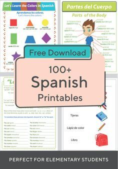 Spanish Foreign Language Worksheets & Free Printables