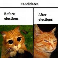 Political candidates.