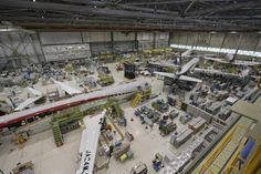 Mechanics work on MRJ regional jets at the company's plant in Toyoyama, central Japan. At a tightly guarded factory in central Japan, Mitsubishi, a maker of the Zero fighter planes of World War II, is launching its MRJ regional jet and aiming to fulfill Japan's long-cherished ambitions to regain status as a major aviation power. (AP Photo/Mitsubishi Aircraft Corp.)