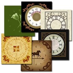 Traditional clock dials, Shaker clock faces, Floral clock faces,Mission, Art & Crafts clock faces are available custom fit to your clock. Antique dials can be recreated for restoration or reproductions. All of the art for our clock faces has been created exclusively for ClockPrints. Our digital files make it possible to alter designs allowing you to change time ring / chapter ring sizes or background sizes at no extra charge.