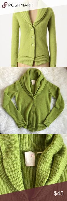 """Far Away from Close Twice Topped Cardi citron sz M Far Away From Close Anthropologie Twice Topped Cardi in citron green. 100% Cashmere. So soft and comfy. Sz M tts  Bust 19"""" across length 23""""  EUC Anthropologie Sweaters Cardigans"""
