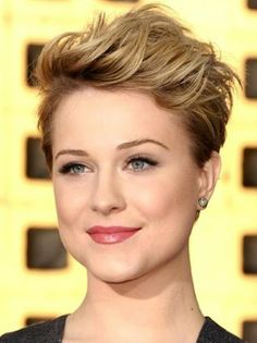 Evan Rachel Wood - punk-inspired pixie cut with blonde highlights and teased pompadour.