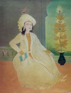 The Princess - Abdul Rahman Chughtai. Courtesy - National Art Gallery Collection, PNCA, Islamabad, Pakistan.