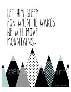 Monochrome Nursery/Let him sleep for when he by EllenCrimiTrent