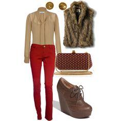 Faux fur vest, Vintage Chanel and winter warmth.