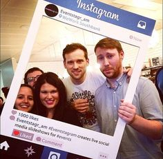 Its the year of the selfie and what better way to add a bit of fun and excitement to your event then a personalised Instagram frame for your guests