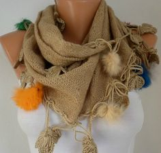 Knitted Fabric  Scarf   Headband Necklace Cowl Scarves by fatwoman, $22.50