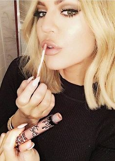 Kylie's biggest fan: Khloe has publicly shown more support for Kylie's lip line than the rest of the family's sisters and was thanked by Kylie who named a new Lip Kit shade after her
