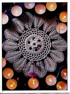 Magic crochet № 153 - leila tkd - Álbuns da web do Picasa..Candle Glow Irish Crochet...pattern and diagrams!!