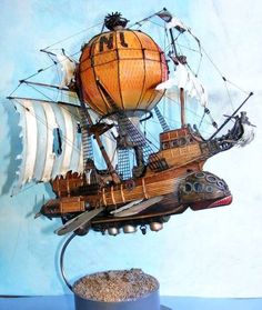 art Model fantasy steampunk airship airships steam punk steampunk tendencies flying ship Scale models