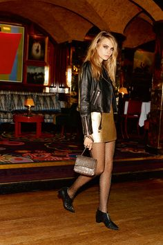 Cara Delevingne for Topshop Holiday - Holiday Fashion 2014 - Elle @gtl_clothing #getthelook http://gtl.clothing