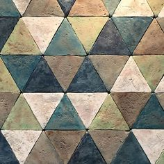 More #handmade #tile loveliness from #cersaie! These beauties spotted by @dilorenzo_tiles are #glazed #terracotta #triangles. Love their #vintage  #antiquated look!  #architecture #archilovers #Bologna #cersaie2015 @cersaie #dsfloors #geometric #shapes #patterns #madeinitaly #Italiantile #Italianstyle #flooring #homedecor #homedesign #hardscape #landscape #tilelove #tileporn #tileaddiction #tileenvy #tilework by tileometry