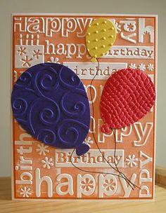 Cuttlebug Folder - beautiful birthday card