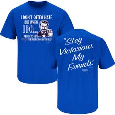 Duke Stay Victorious and Hate North Carolina T-Shirt