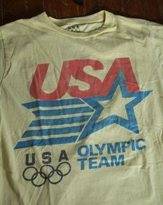 Retro Vintage USA Olympic Team T Shirt Men's Medium 1984 Licensed Tagless | eBay