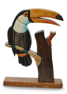 Handcrafted Wood Bird Sculpture - Amazon Toucan | NOVICA