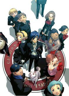 Persona 3 FES, character design by Shigenori Soejima. #videogames #art