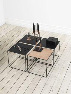 Twin Table by by Lassen | Whiteoak | Black Copper | Product