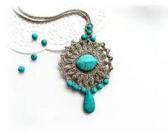 Αποτέλεσμα εικόνας για necklace crochet