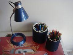 Funcionalidade: porta canetas e lápis de cor.