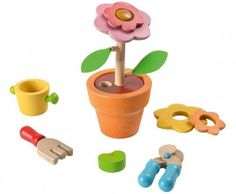 PlanToys Flower Set Offers Stacking Fun for Aspiring Green Thumbs | Inhabitots