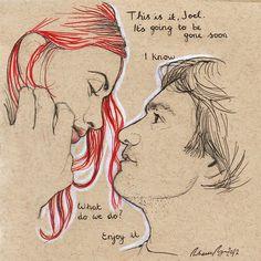 Eternal Sunshine of the Spotless Mind original drawing for sale  www.facebook.com/beckysart