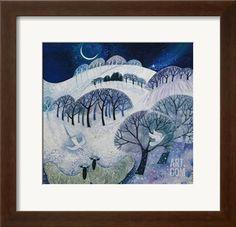 Snowy Night Giclee Print by Lisa Graa Jensen at Art.com