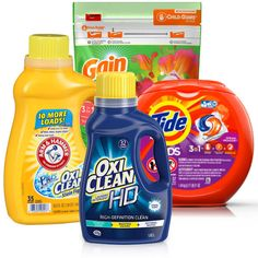 Aprovecha a imprimir y ahorra con cupones para detergentes tales como OxiClean, Tide Pods, Gain Flings entre otros! Recuerda que puedes ...