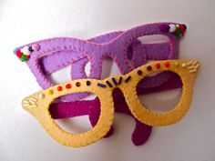 felt glasses. My students often wear costume glasses, so I thought these might be fun to include.