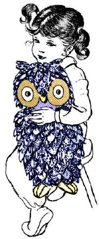 Stuffed Vintage Owl Pattern
