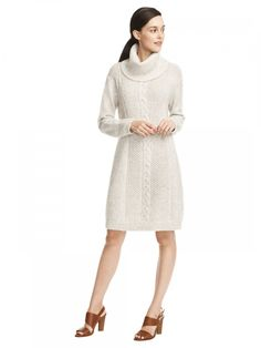 Winter Cable Sweater Dress