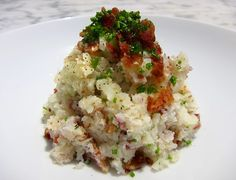 Bacon and Chive Mashed Cauliflower - Autoimmune Paleo Recipe - AIP recipe