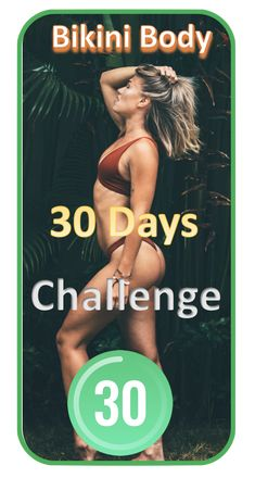 Get a Bikini Body in 4 Weeks with 30 Day Fitness App. Start a Free Trial now! 30 Day Fitness, Fitness Workout For Women, Fitness App, Fitness Diet, Fitness Motivation, Health Fitness, Yoga, Gym Workouts, At Home Workouts