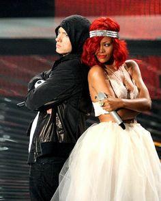 Eminem and Rihanna.