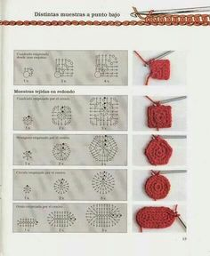 Photo from album Iniciacion al ganchillo libro 01 on Yandex.Disk how to crochet differen Photo from album Iniciacion al ganchillo libro 01 on Yandex.Disk how to crochet different figures