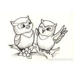 Tattoos I wanna do peachy-cute-owl-tattoo-design.png - Polyvore