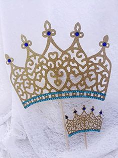 Prince Crown Cake Topper or Cupcake Toppers >>> Want to know more, click on the image.(This is an Amazon affiliate link)