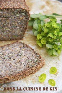 Pain aux graines sans levure, sans farine. Sans gluten, sans oeuf, sans lactose