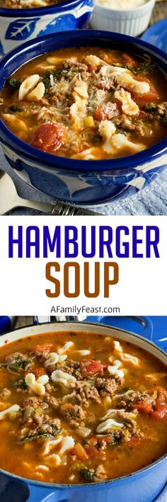 Hamburger Soup - A Family Feast. Leave out pasta. Use coconut aminos instead of worchershire sauce. Cheese, depending on tolerance to dairy. Chili Recipes, Slow Cooker Recipes, Soup Recipes, Great Recipes, Cooking Recipes, Favorite Recipes, Crockpot Recipes, Chowder Recipes, Recipe Ideas