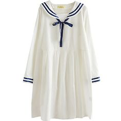 Partiss Women's Sailor Collar Long Sleeve Sweet Lolita Dress, One Size, White Partiss http://www.amazon.com/dp/B01CJP1UHA/ref=cm_sw_r_pi_dp_ZtAdxb1TVW2X5