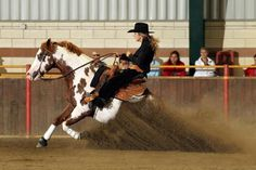 I'd love to try reining someday. Looks like so much fun! Cowgirl And Horse, Horse Love, Horse Girl, Cowgirl Style, Western Horsemanship, Rodeo Events, Cutting Horses, Reining Horses, Western Riding
