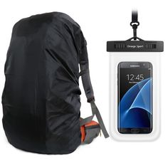 395216eccaa1 UltraLight Backpack Rain Cover With PU Stored Bag Cellphone Waterproof Case