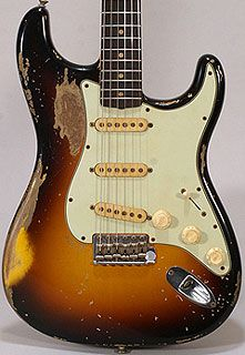 John Frusciante's 1962 Sunburst Strat. Learn to play guitar online at www.studio33guitarlessons.com